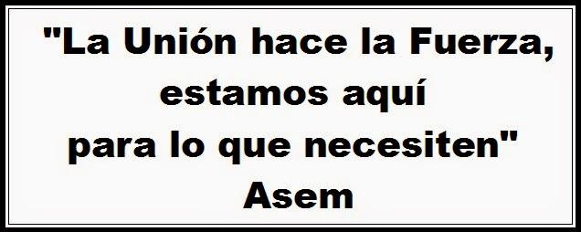 """""""La unión hace la fuerza, estamos aquí para lo necesiten"""", Asem"""