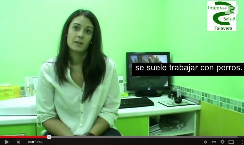 Imagen de la entrevista a Laura Corrochano