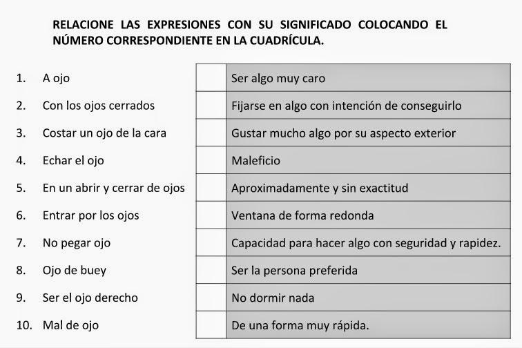 Ejercicio: relaciona expresiones