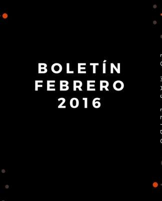 Boletín Febrero 2016