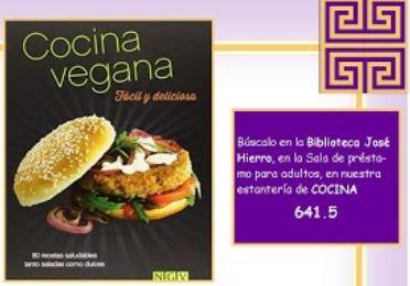 """Portada del libro Cocina vegana. Fácil y deliciosa"""""""