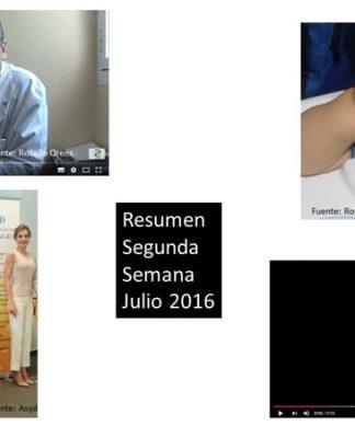 Resumen Segunda Semana Julio 2016