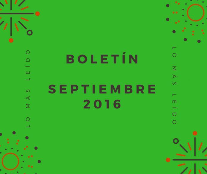 Boletín Septiembre 2016