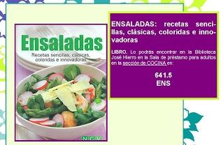 """Recomendación: """"Ensaladas"""""""
