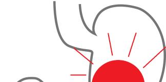 Estómago con punto rojo