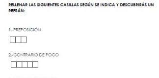 Actividad: Rellena las Casillas.