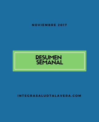 Resumen Tercera Semana Noviembre 2017