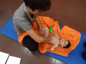 masaje infantil pinza